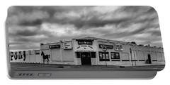 The Stone Pony Asbury Park New Jersey Black And White Portable Battery Charger by Terry DeLuco