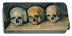 The Three Skulls Portable Battery Charger by Paul Cezanne