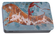 The Toreador Fresco, Knossos Palace, Crete Portable Battery Charger by Greek School