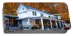 The Valley Green Inn In Autumn Portable Battery Charger by Bill Cannon