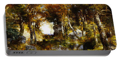 The Woodland Pool Portable Battery Charger by Thomas Moran