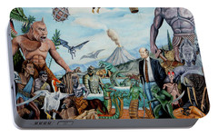 The World Of Ray Harryhausen Portable Battery Charger by Tony Banos