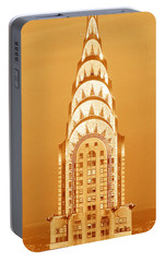 Chrysler Building At Sunset Portable Battery Charger by Panoramic Images