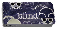 Three Blind Mice Children Chalk Art Portable Battery Charger by Mindy Sommers