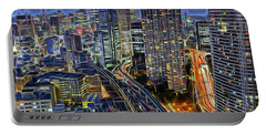 Tokyo Japan Skyline Portable Battery Charger by Marvin Blaine