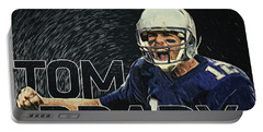 Tom Brady Portable Battery Charger by Taylan Soyturk