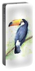 Toucan Watercolor Portable Battery Charger by Olga Shvartsur