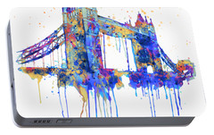 Tower Bridge Watercolor Portable Battery Charger by Marian Voicu