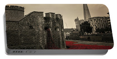 Tower Of London Portable Battery Charger by Martin Newman