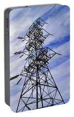 Transmission Tower No. 1 Portable Battery Charger by Sandy Taylor