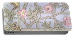 Trellis   Antique Wallpaper Design Portable Battery Charger by William Morris