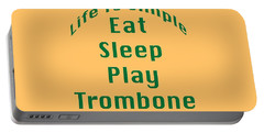 Trombone Eat Sleep Play Trombone 5517.02 Portable Battery Charger by M K  Miller