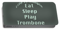 Trombone Eat Sleep Play Trombone 5518.02 Portable Battery Charger by M K  Miller