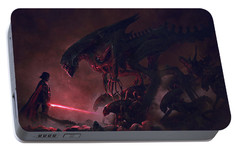Troopers Vs Space Cockroaches 9 Portable Battery Charger by Guillem H Pongiluppi