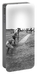 Troops Playing Cricket Portable Battery Charger by Underwood Archives