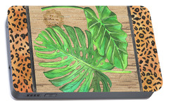 Tropical Palms 2 Portable Battery Charger by Debbie DeWitt