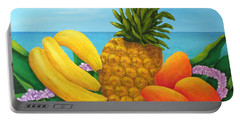 Tropical Trinity Portable Battery Charger by Pamela Allegretto