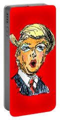 Trump Portable Battery Charger by Robert Yaeger