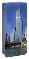 Trump Tower Chicago Portable Battery Charger by Adam Romanowicz