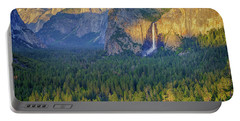 Tunnel View At Sunset Portable Battery Charger by Rick Berk