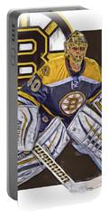 Tuukka Rask Boston Bruins Oil Art 1 Portable Battery Charger by Joe Hamilton