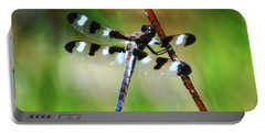 Portable Battery Charger featuring the photograph Twelve Spotted Skimmer by Rodney Campbell