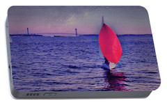 Twilight Spinnaker Portable Battery Charger by Sandy Taylor