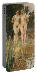 Two Friends  Portable Battery Charger by Anders Leonard Zorn