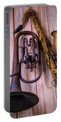 Two Horns Portable Battery Charger by Garry Gay