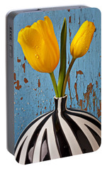 Two Yellow Tulips Portable Battery Charger by Garry Gay