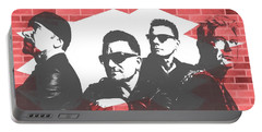 U2 Graffiti Tribute Portable Battery Charger by Dan Sproul