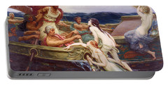 Ulysses And The Sirens Portable Battery Charger by Herbert James Draper