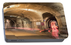 Underground Tunnels In Guanajuato, Mexico Portable Battery Charger by Juli Scalzi