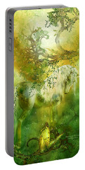 Unicorn Of The Forest  Portable Battery Charger by Carol Cavalaris