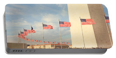 United States Flags At The Base Portable Battery Charger by Panoramic Images