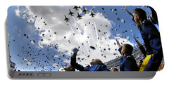 U.s. Air Force Academy Graduates Throw Portable Battery Charger by Stocktrek Images
