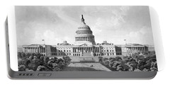 Us Capitol Building - Washington Dc Portable Battery Charger by War Is Hell Store