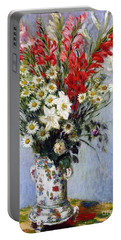 Vase Of Flowers Portable Battery Charger by Claude Monet