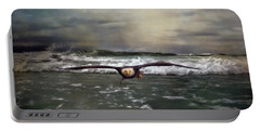 Victory Bald Eagle Art Portable Battery Charger by Jai Johnson