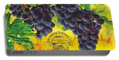 Vigne De Raisins Portable Battery Charger by Debbie DeWitt