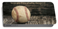 Vintage Baseball Babe Ruth Quote Portable Battery Charger by Terry DeLuco