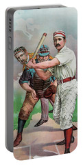 Vintage Baseball Card Portable Battery Charger by American School