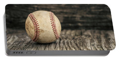 Vintage Baseball Portable Battery Charger by Terry DeLuco