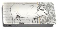 Vintage Farm 2 Portable Battery Charger by Debbie DeWitt