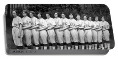 Vintage Photo Of Women's Baseball Team Portable Battery Charger by American School