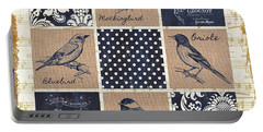 Vintage Songbird Patch 2 Portable Battery Charger by Debbie DeWitt
