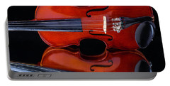 Violin Reflection Portable Battery Charger by Garry Gay