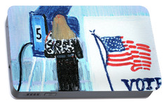 Voting Booth 2008 Portable Battery Charger by Candace Lovely