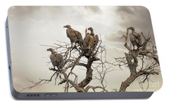 Vultures In A Dead Tree.  Portable Battery Charger by Jane Rix