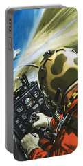 War In The Air Portable Battery Charger by Wilf Hardy